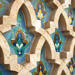Mosaico de color en Casablanca