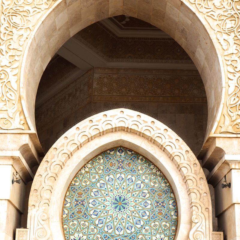 Casablanca: Mosaico rosetón