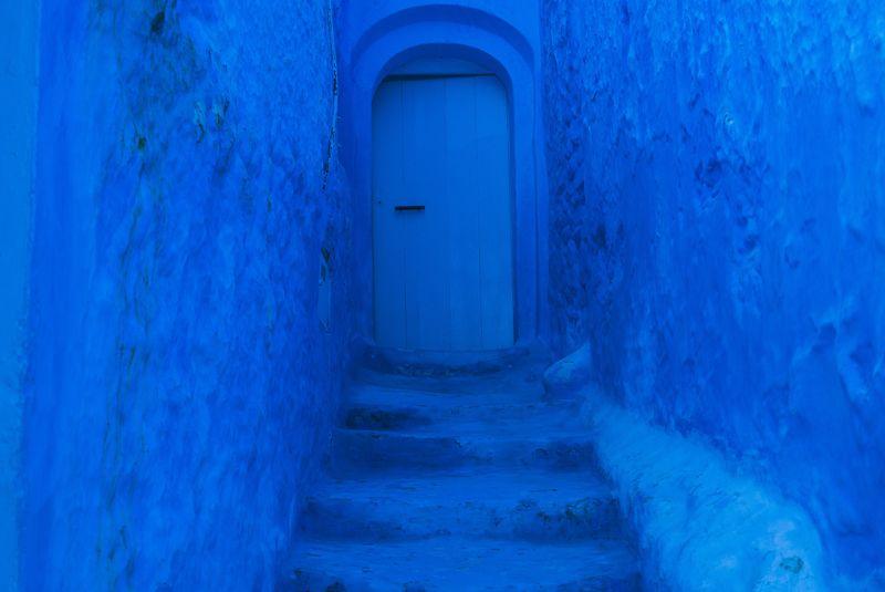 Callejón azul en Chaoue. The Best Morocco