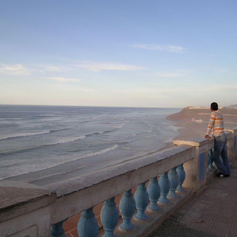 Costa Atlántica Sur. Vista desde Marruecos.