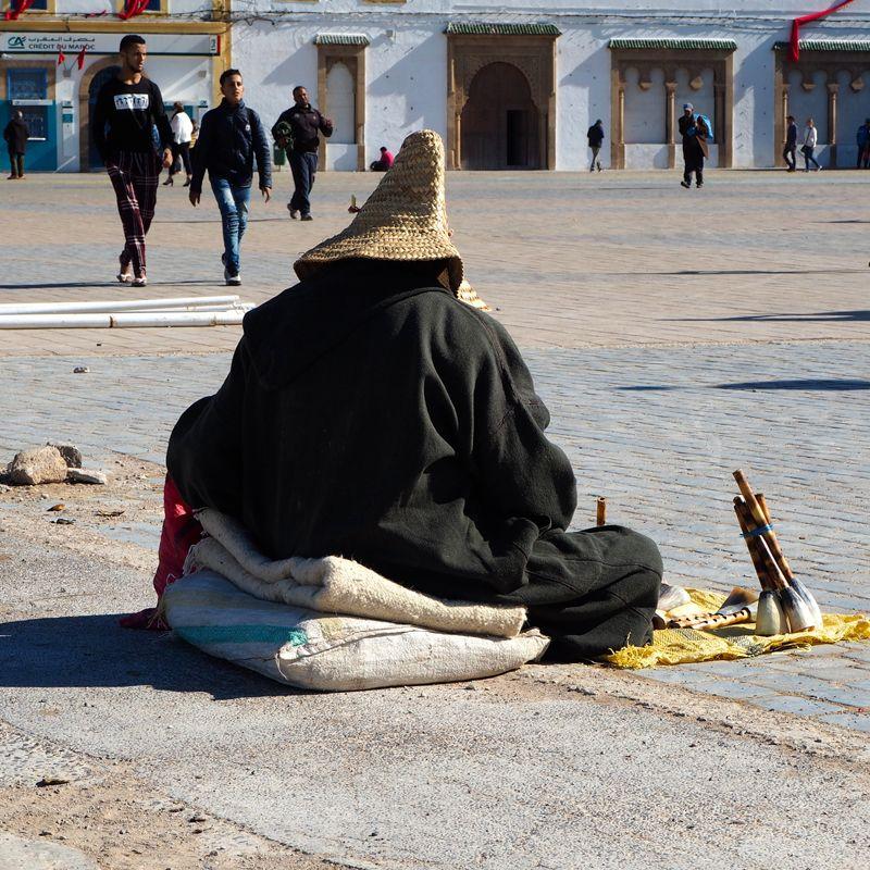 Essaouira: hombre sentado